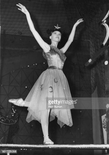 French actress and dancer Leslie Caron rehearses for the Roland Petit ballet 'Le Belle au Bois Dormant' at the Stoll Theatre in London, 14th December...