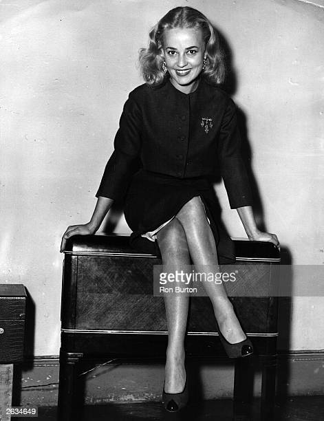 French actress and director Jeanne Moreau at a reception in London for her film 'The Parasites'