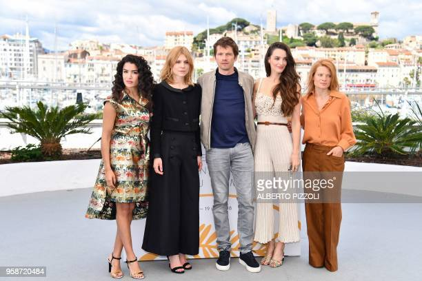 TOPSHOT French actress and director Sabrina Ouazani French actress and director Clemence Poesy French actor and director French actor Pierre...