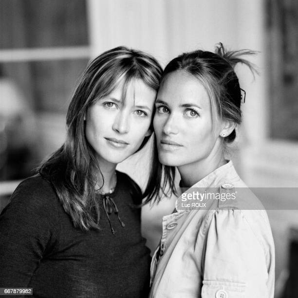 French actress and director Sophie Marceau promotes her film Parlezmoi d'Amour with French actress Judith Godreche who plays the leading role