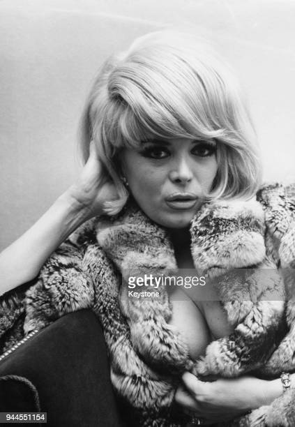 French actress and entertainer Coccinelle in Wiesbaden Germany where she is performing in a nightclub 23rd February 1965 Born as a man she underwent...