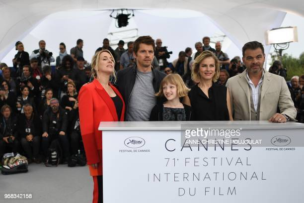 French actress and film director Andrea Bescond, French actor Pierre Deladonchamps, French actress Cyrille Mairesse, French actress Karin Viard and...