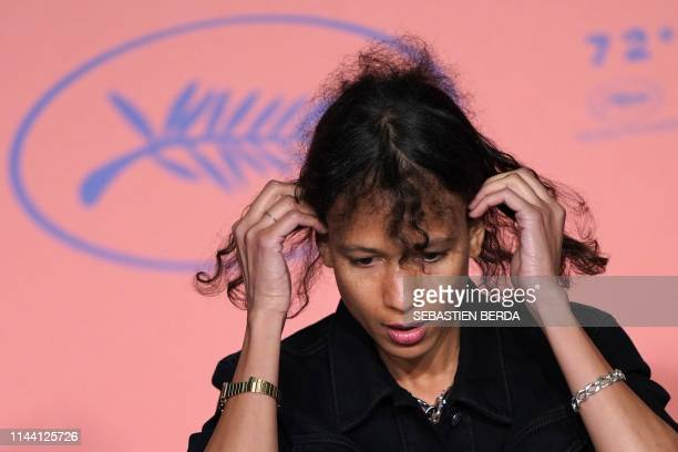 French actress and film director Mati Diop attends a press conference for the film Atlantics at the 72nd edition of the Cannes Film Festival in...