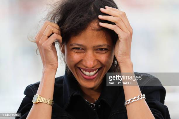 French actress and film director Mati Diop smiles during a photocall for the film Atlantics at the 72nd edition of the Cannes Film Festival in Cannes...