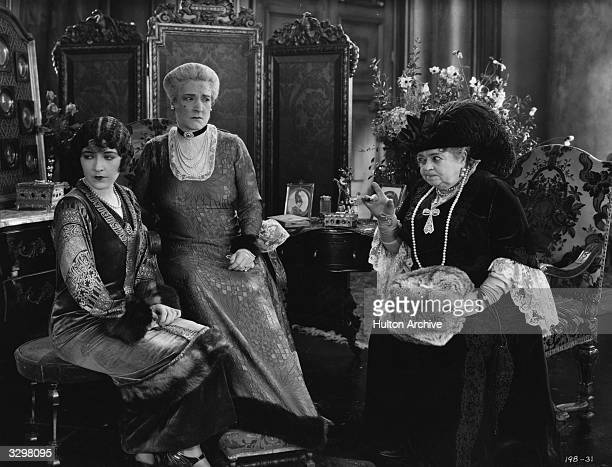 French actress and former circus performer Renee Adoree born Jeanne De La Fonte being admonished by an old Russian lady in a scene from 'His Hour'...