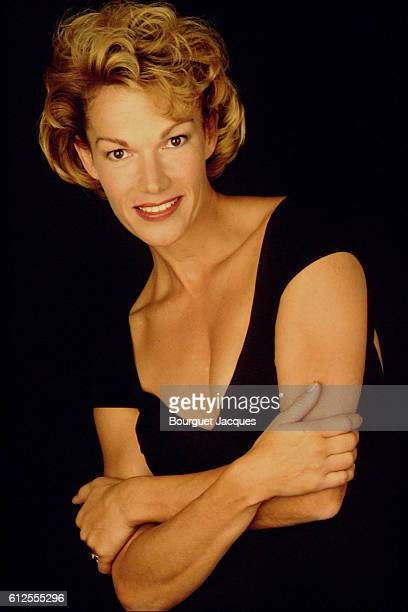 French actress and former pornographic actress Brigitte Lahaie