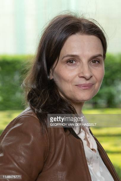 French actress and godmother of the second edition of the Branche and Cine film festival, Juliette Binoche, poses for a photograph at the Museum of...