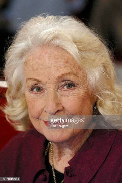 French actress and guest Danielle Darrieux during the sunday show 'Vivement Dimanche' presented by Michel Drucker