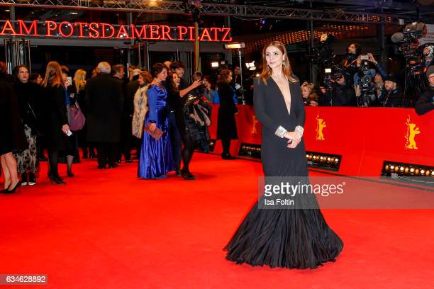French actress and Jury member of Best First Feature Clotilde Courau attends the 'Django' premiere during the 67th Berlinale International Film...