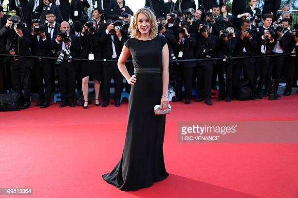 French actress and member of the Un Certain Regard Jury Ludivine Sagnier poses on May 26 2013 as she arrives for the screening of the film 'Zulu'...
