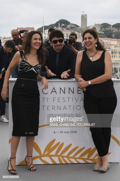 French actress and member of the Un Certain Regard jury Virginie Ledoyen USPuerto Rican actor and President of the Un Certain Regard jury Benicio Del...