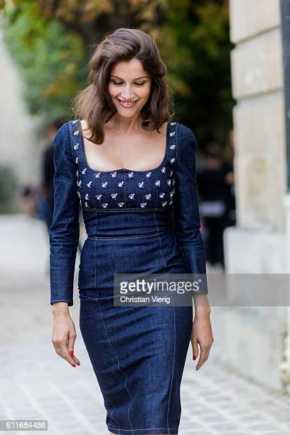 French actress and model Laetitia Casta outside of Dior on September 30 2016 in Paris France