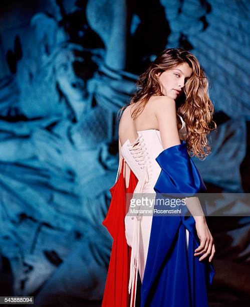 French actress and model Laetitia Casta was chosen as a model for the official bust of Marianne national symbol of the French Republic