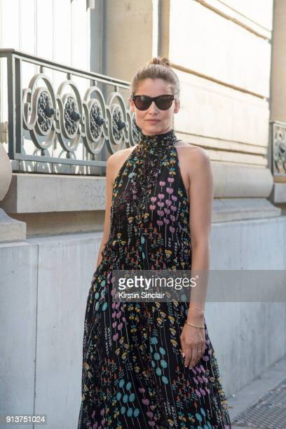 French Actress and Model Laetitia Casta wears a Valentino dress day 4 of Paris Haute Couture Fashion Week Autumn/Winter 2017 on July 5 2017 in Paris...