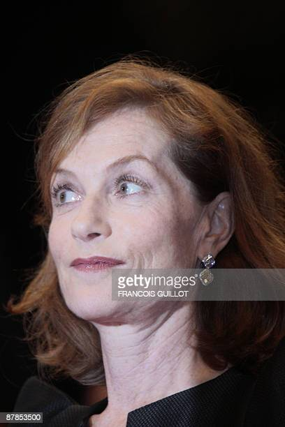 French actress and president of the jury Isabelle Huppert arrives for the screening of Vincere directed by Marco Bellocchio in competition at the...