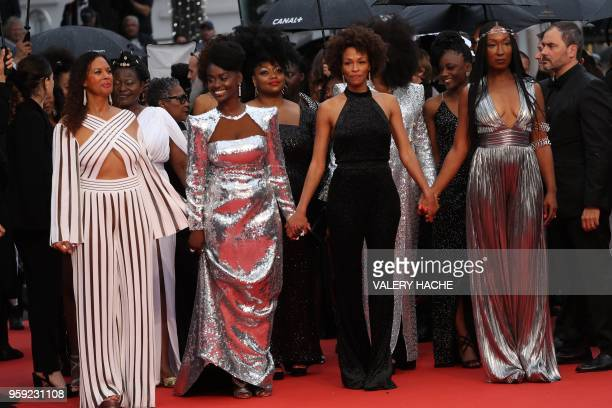 French actress and producer France Zobda French actress Aissa Maiga French writer Rachel Khan and French actress Nadege BeaussonDiagne part of a...