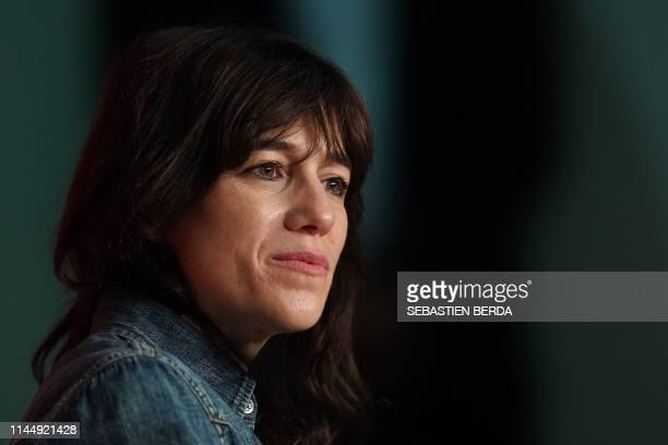 """French actress and singer Charlotte Gainsbourg attends a press conference for the film """"Lux Aeterna"""" at the 72nd edition of the Cannes Film Festival..."""