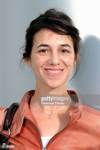French actress and singer Charlotte Gainsbourg attends Chanel '09 Spring Summer Haute Couture fashion show at the Grand Palais on July 1 2008 in...