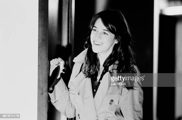 French actress and singer Charlotte Gainsbourg on the set of the film Ma Femme est une Actrice directed by her husband actor and director Yvan Attal