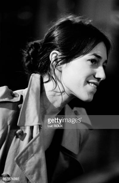 French actress and singer Charlotte Gainsbourg on the set of the film Ma Femme est une Actrice directed by her husband French actor and director Yvan...