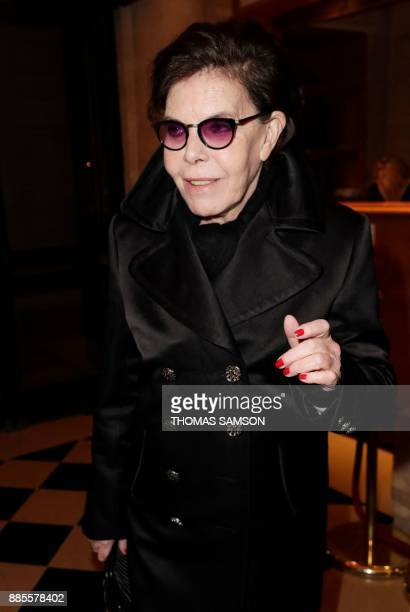 French actress and singer Dani arrives to attend a ceremony in tribute to French actress Jeanne Moreau at the Theatre de l'Odeon in Paris on December...