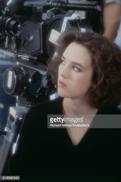 French actress and singer Isabelle Adjani on the set of the music video for the song Pull Marine written by Serge Gainsbourg The video is directed by...
