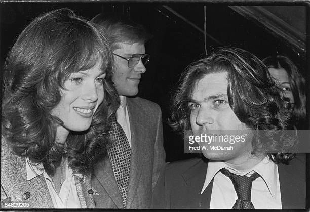 French actress and singer Jane Birkin and American businessman and magazine publisher Jann Wenner at the nightclub Studio 54 New York New York...