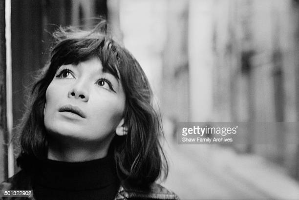 French Actress and singer Juliette Greco in 1960 in Paris France