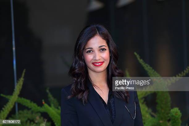 French actress and singer Nabiha Akkari during photocall of italian film 'Non c'è più religione' directed by Luca Miniero