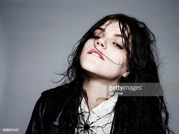 French actress and singer Soko is photographed for Bullett on April 16 2013 in Los Angeles California