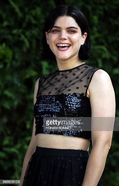 French actress and singer Stephanie Sokolinski aka Soko poses during a photocall of the movie La danseuse during the 9th Francophone Angouleme Film...