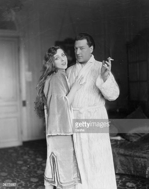 French actress and singer Yvonne Printemps and Russianborn French filmmaker Sacha Guitry
