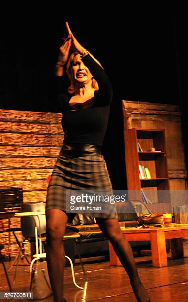 French actress and vedette Marlene Mourreau during the performance of work teartral See you in heaven in Vicente Espinal Theatre 12nd June 2013...