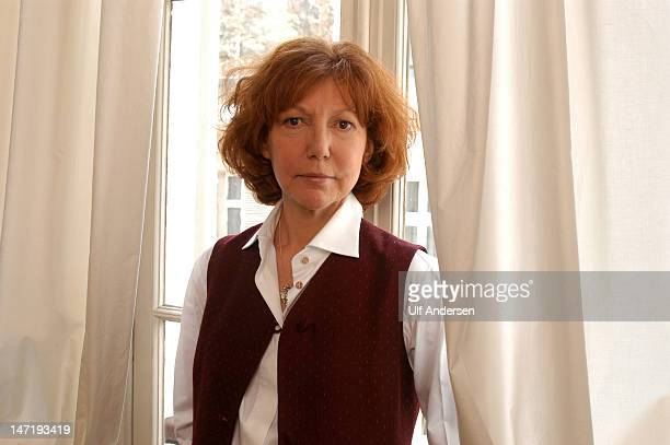 PARIS FRANCE MARCH 30 French actress and writer Anne Wiazemsky poses at home during a portrait session held on March 30 1994 in Paris France
