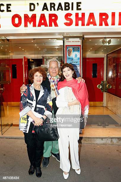 French actress Andrea Ferreol Massimo Gargia and Elsa Martinelli attend the Hommage to Omar Sharif at cinema Mac Mahon on September 9 2015 in Paris...
