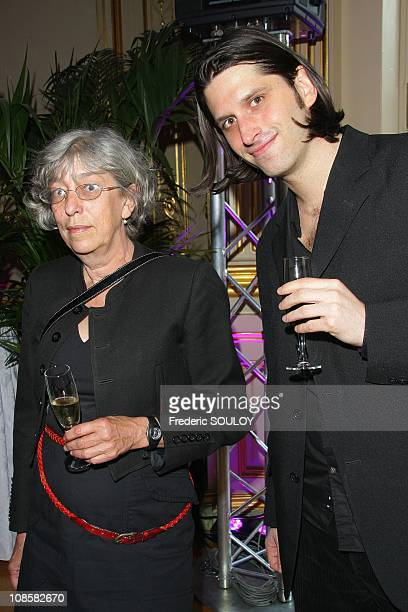 French actress Anemone and friend at the Cercle Interallie in Paris, France on June 03, 2009.