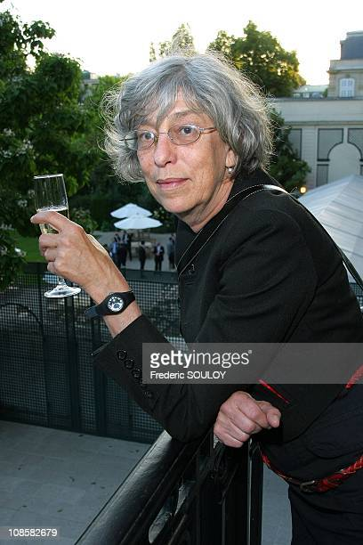 French actress Anemone at the Cercle Interallie in Paris France on June 03 2009