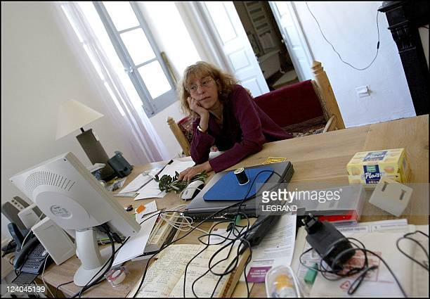 """French actress Anemone on holiday in the French island of Corsica, before she stars on stage in """"Mum's the Word"""" In Calvi, France On April 17, 2003."""