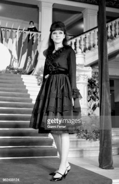 French actress Anna Karina at the San Sebastian Film Festival Guipuzcoa Spain