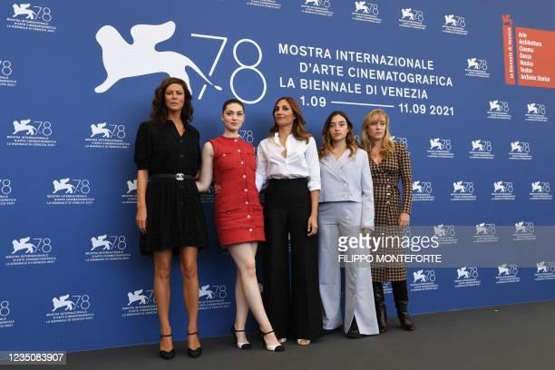 French actress Anna Mouglalis, French Romanian actress Anamaria Vartolomei, French director Audrey Diwan, French actress Luana Bajrami and French...