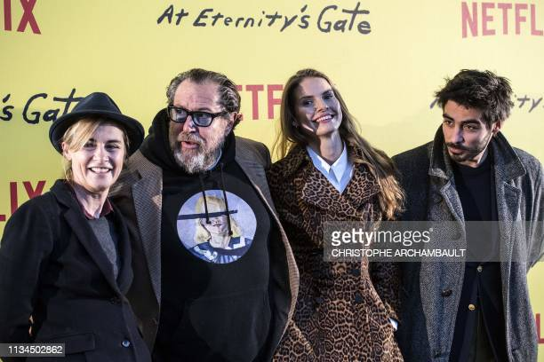 French actress Anne Consigny US film director and painter Julian Schnabel Swedish film editor Louise Kugelberg and French actor Vladimir Consigny...
