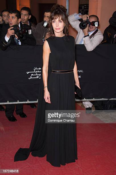French actress Anne Parillaud attends the 'Touch Of The Light' Opening Film of the 12th Marrakech International Film Festival on November 30 2012 in...