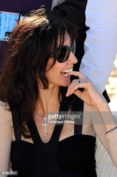 French actress Anne Parillaud poses during the International Young Directors Film Festival on October 14 2009 in St JeandeLuz France