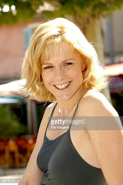 French actress Anne Richard at the 2002 TV fiction festival.