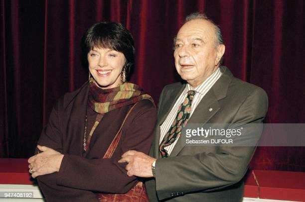 French actress Annie Duperey with GreekCypriot filmmaker Michael Cacoyannis at the premiere of his movie 'The Cherry Orchad' January 10 2000
