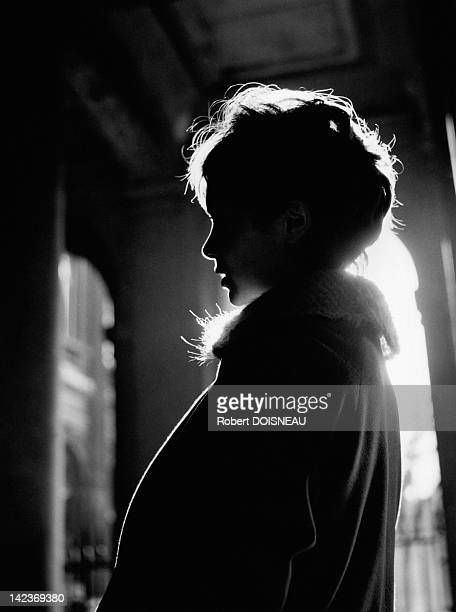 French actress Annie Fargue on January 29 1958 in Paris France