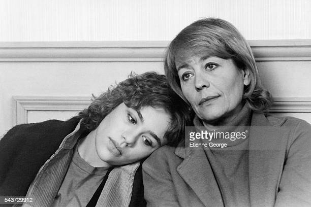 French actress Annie Girardot and her daughter actress Giulia Salvatori in her staring role in the film La Vie Continue directed by Egyptian director...