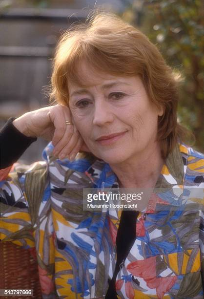 French actress Annie Girardot in her Paris home