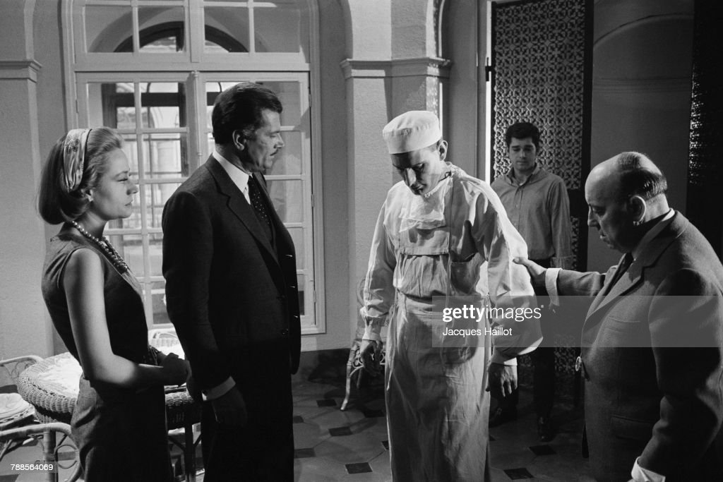 French actress Annie Girardot, Italian actor Gabriele Ferzetti, and director and screenwriter Marcel Carne on the set of Carne's movie Trois Chambres a Manhattan (Three Rooms in Manhattan).