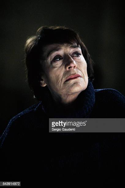 French actress Annie Girardot on the set of the madefortelevision film Tout Ce Qui Brille directed by Lou Jeunet